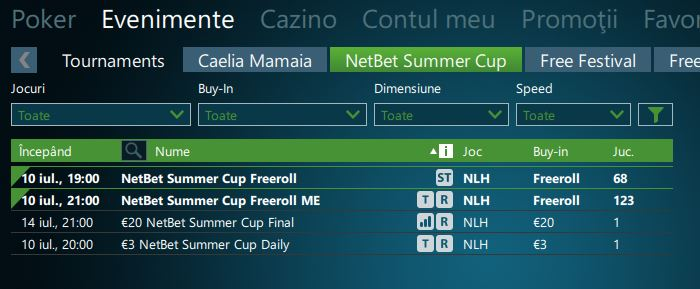 lobby netbet summer cup